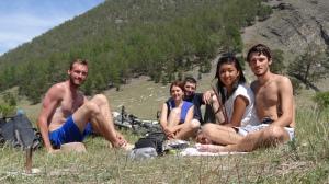 Avec Céline, Jim, Sophie et Adrien